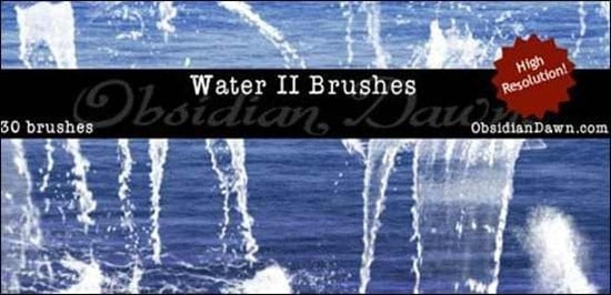 wpid water II photoshop brushesthumb 50+ Water Brushes and Watercolor Brush Sets for Photoshop
