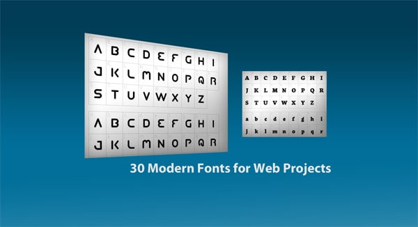30 modern fonts 30 Modern Fonts for Web Projects