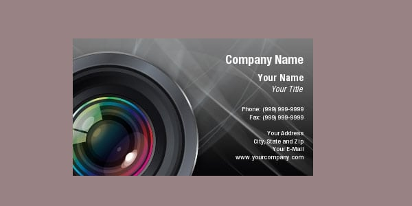 buss card camera 10+ Nice Free Photography Business Cards 