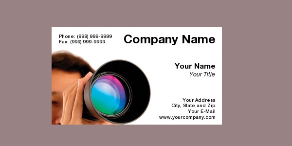 buss card 10+ Nice Free Photography Business Cards 