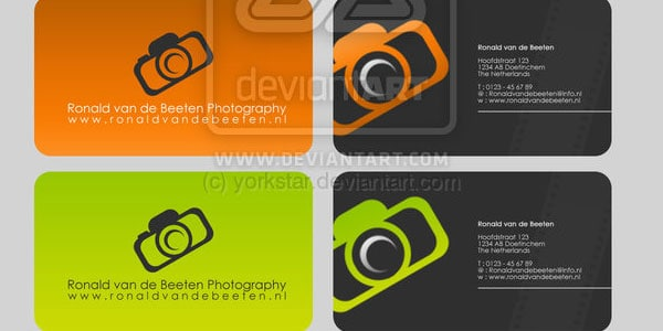 design 10+ Nice Free Photography Business Cards 