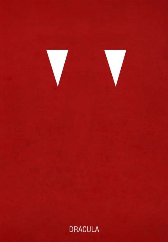 dracula 30 Minimal Poster Designs For Inspiration