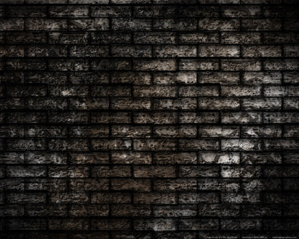 grunge brick wall background 600x479 50+ Black Grunge Backgrounds and Textures