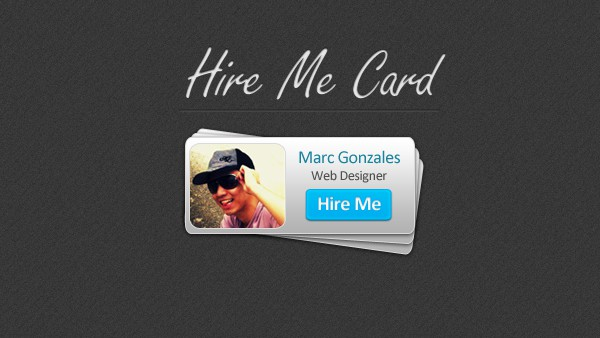 Hire Me Card PSD