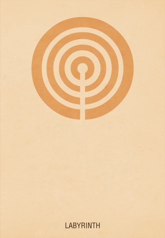 labyrinth 30 Minimal Poster Designs For Inspiration