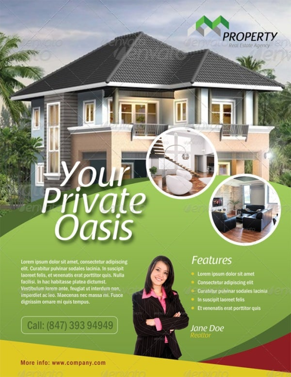 real estate flyer 1 Showcase of High Quality Real Estate Flyer Templates