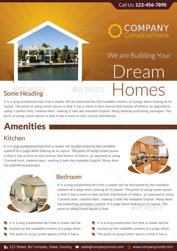 real estate flyer 10 Showcase of High Quality Real Estate Flyer Templates