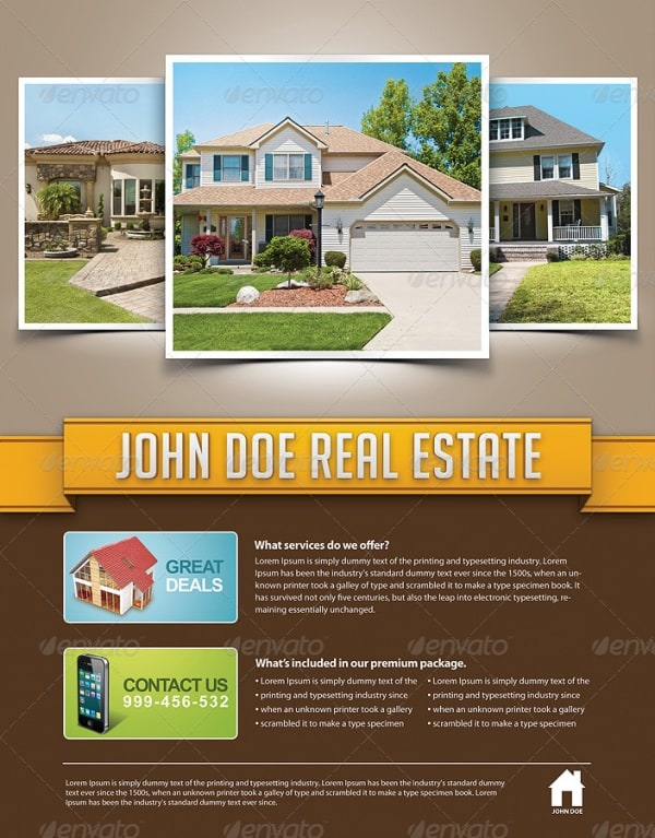real estate flyer 3 Showcase of High Quality Real Estate Flyer Templates