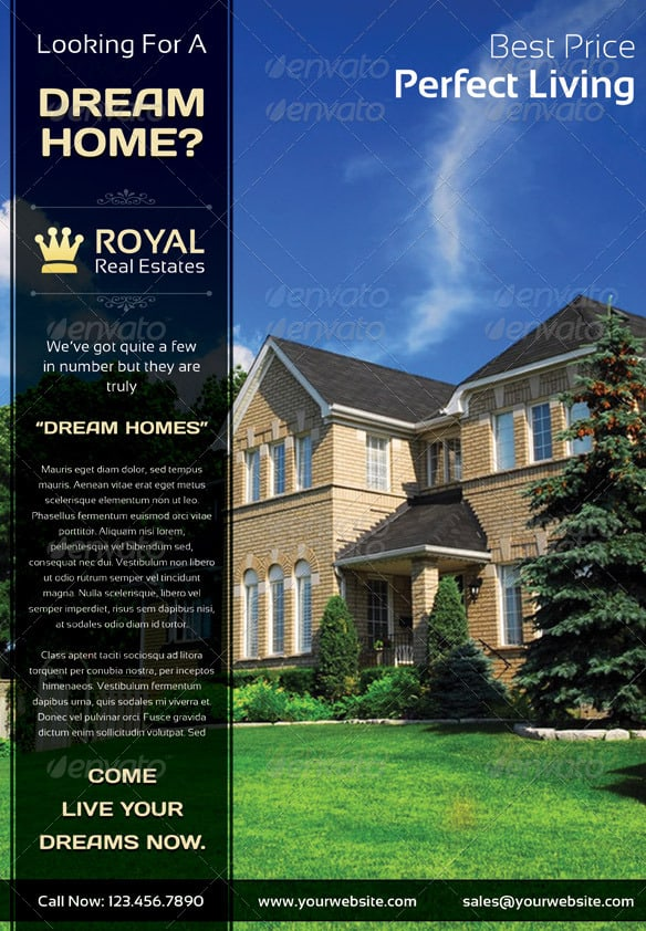 real estate flyer 9 Showcase of High Quality Real Estate Flyer Templates