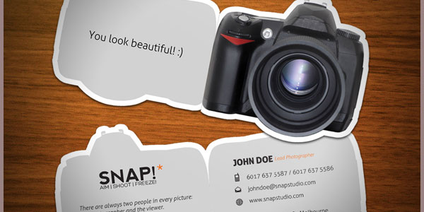 snap 10+ Nice Free Photography Business Cards