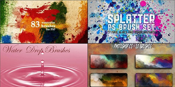 water and watercolor brush sets for free download