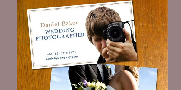 wedding photo 10+ Nice Free Photography Business Cards
