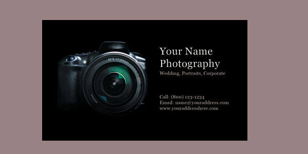 wedding photographer 10+ Nice Free Photography Business Cards