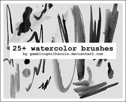 wpid 25 watercolor brushesthumb 50+ Water Brushes and Watercolor Brush Sets for Photoshop