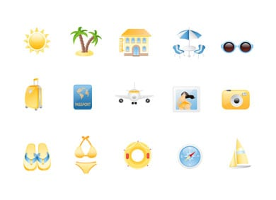 wpid 7free holiday icons 50+ Free Summer Holiday Icons For Designers