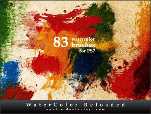 wpid 83 watercolor brushesthumb 50+ Water Brushes and Watercolor Brush Sets for Photoshop