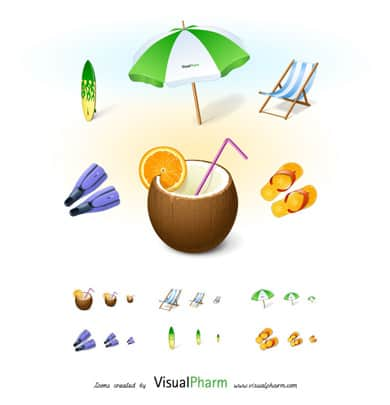 wpid 9free holiday icons 50+ Free Summer Holiday Icons For Designers