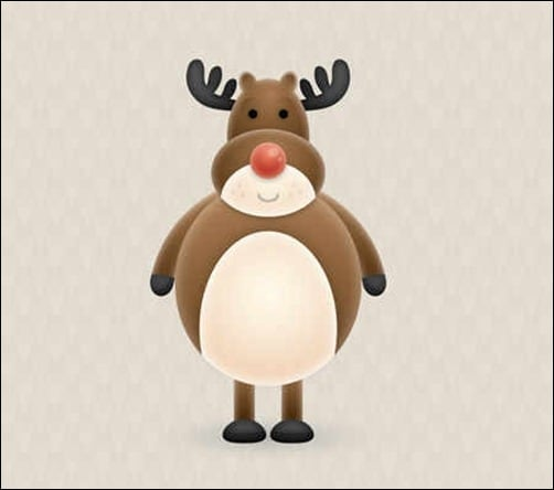create-a-cute-reindeer-character-in-illustrator