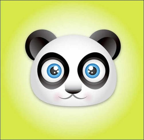 create-a-panda-bear-face-