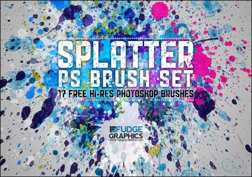 wpid hi res splatter brush setthumb 50+ Water Brushes and Watercolor Brush Sets for Photoshop