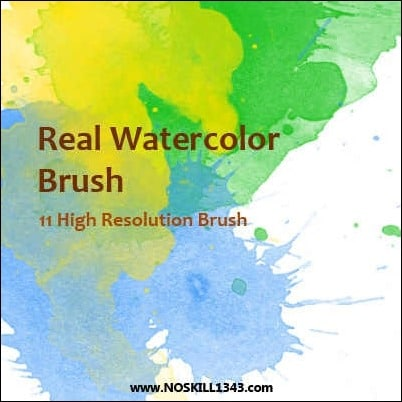 wpid real watercolor brushthumb 50+ Water Brushes and Watercolor Brush Sets for Photoshop