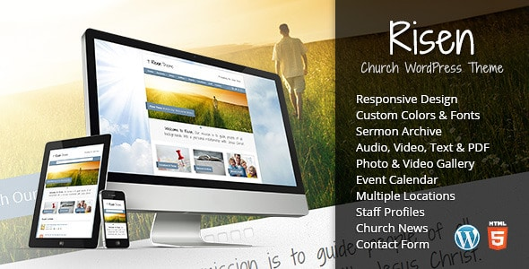 responsive WordPress church themes
