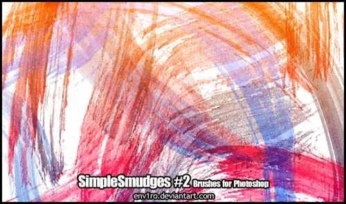 wpid simple smudges brush packthumb 50+ Water Brushes and Watercolor Brush Sets for Photoshop