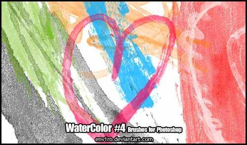 wpid watercolor brush pack 4thumb 50+ Water Brushes and Watercolor Brush Sets for Photoshop