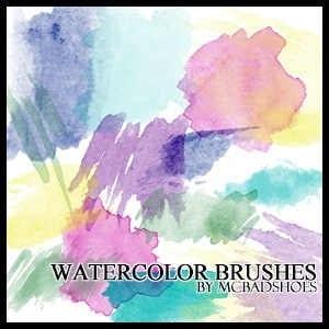 wpid watercolor brushes thumb 50+ Water Brushes and Watercolor Brush Sets for Photoshop