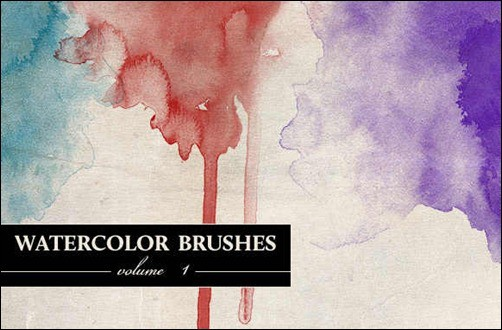 wpid wg watercolor brushes vol 1thumb 50+ Water Brushes and Watercolor Brush Sets for Photoshop