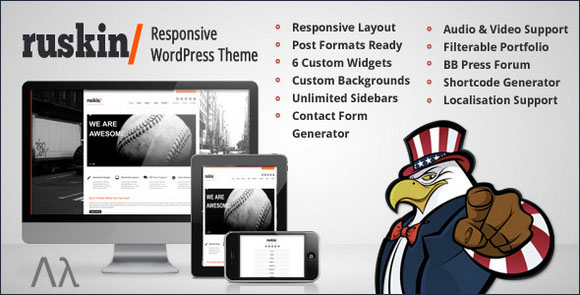 wpid wordpresstheme 19 50 Top WordPress Themes Released in 2012