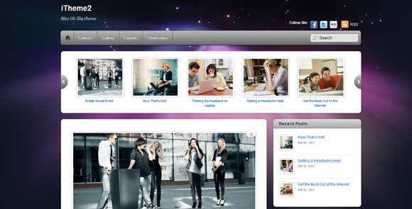 wpid wordpresstheme 41 50 Top WordPress Themes Released in 2012