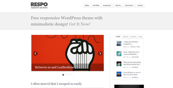 wpid wordpresstheme 44 50 Top WordPress Themes Released in 2012
