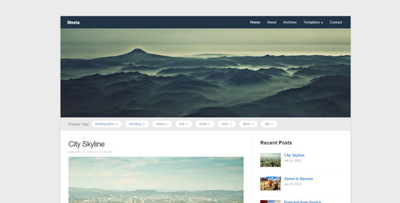 wpid wordpresstheme 45 50 Top WordPress Themes Released in 2012