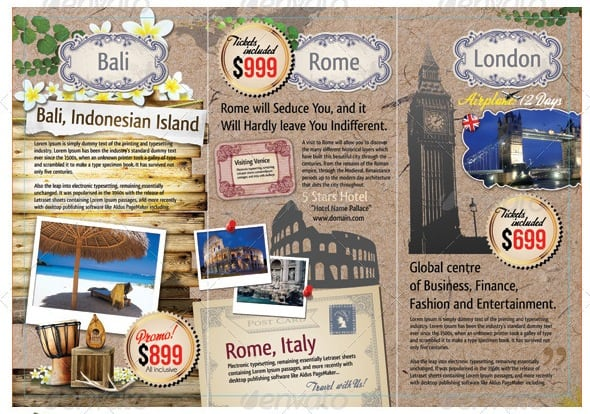 tb3 Showcase of Premium Travel Brochure templates
