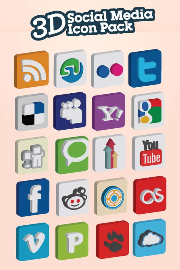 image 1 A collection of free social media icon sets