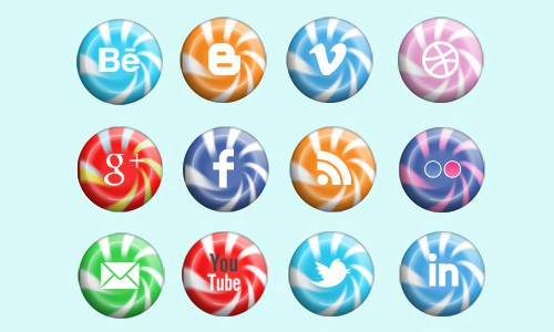 image 4 A collection of free social media icon sets