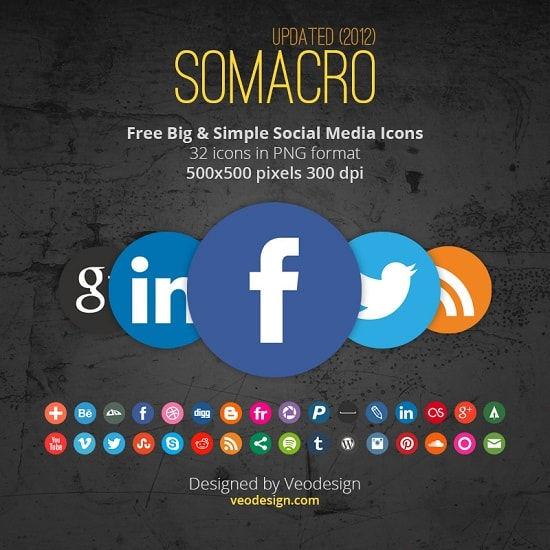 image 7 A collection of free social media icon sets