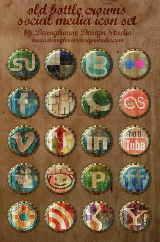 image 8 A collection of free social media icon sets
