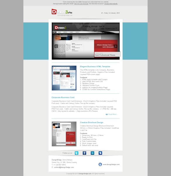 Email newsletter templates psd image collections for Django oscar templates