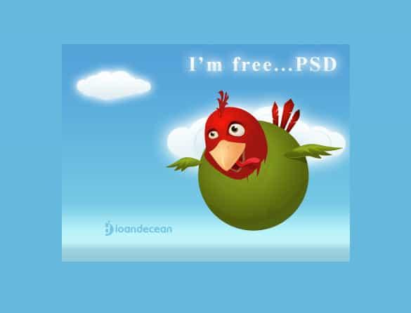 I'm Free Bird Vector Illustration