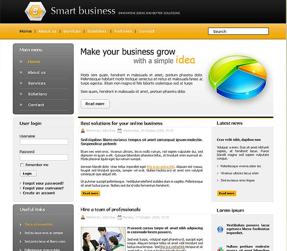 Smart Business Website Template