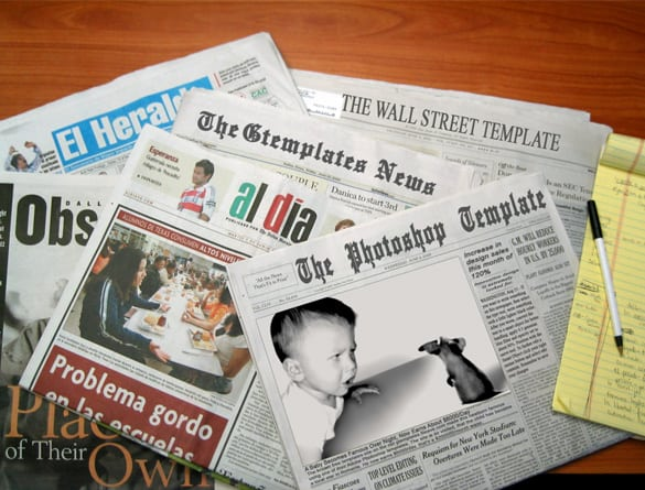 Cool Newspaper Template PSD
