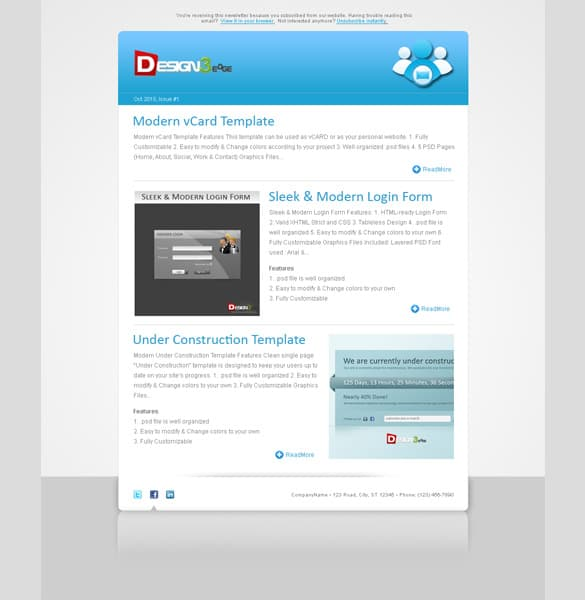 Clean Business Newsletter Template