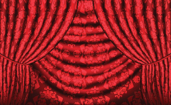 Royal Red Curtain Vector Background