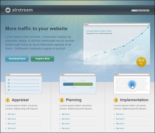 Airstream-landing-page-template