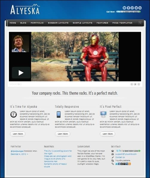 Alyeska wordpress business themes