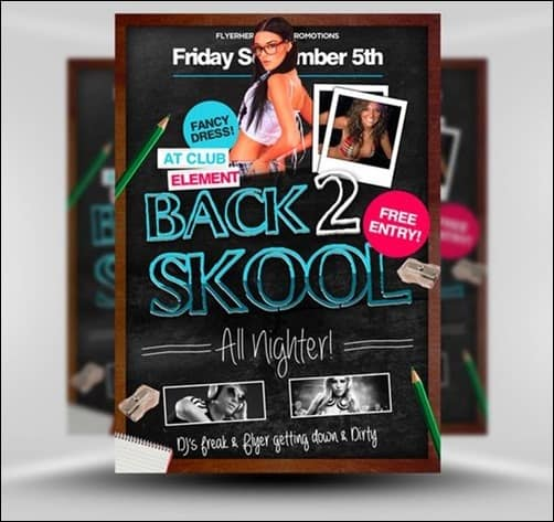 Back-2-School flyer templates