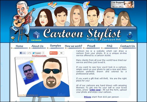 Cartoon-Stylist-cartoon-yourself