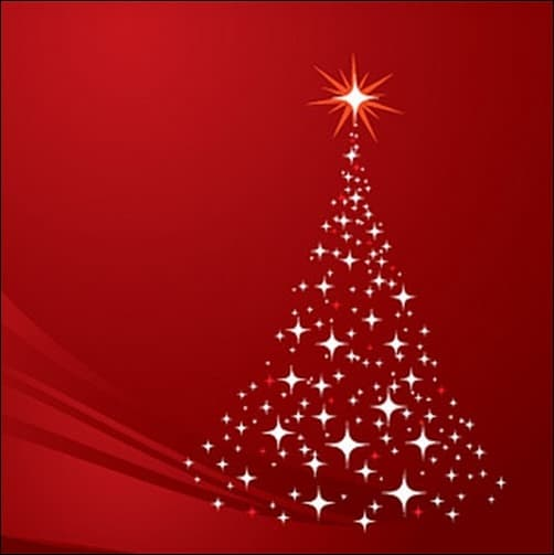 Christmas-Tree-Background-Red